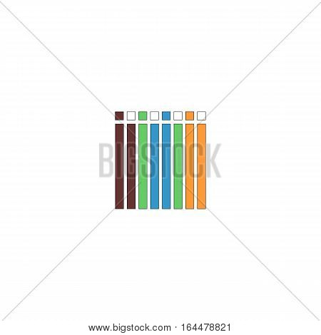 Colorful internet cable isolated on a white backgorund.