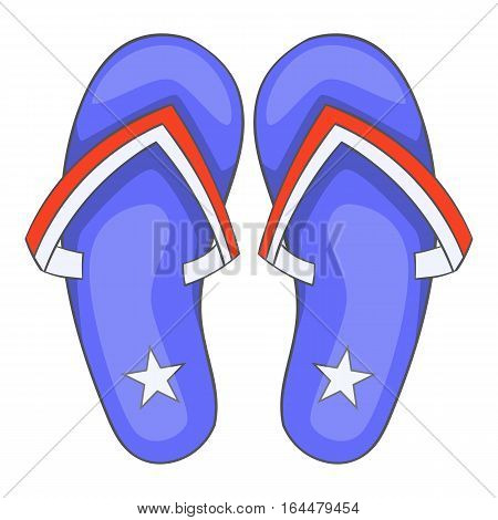 Independence day slippers icon. Cartoon illustration of Independence day slippers vector icon for web design
