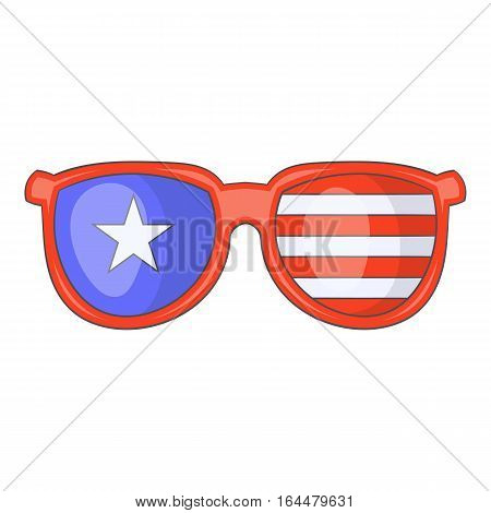 Independence day sunglasses icon. Cartoon illustration of independence day sunglasses vector icon for web design