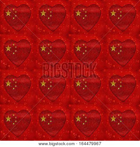 Chineses Motif Flag Seamless Pattern