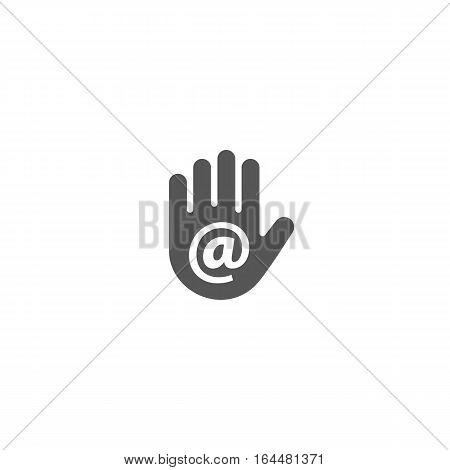 Internet services icon isolated on a white background.