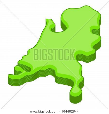 Holland map icon. Cartoon illustration of Holland map vector icon for web design