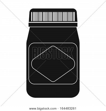 Australian food spread icon in black design isolated on white background. Australia symbol stock vector illustration.