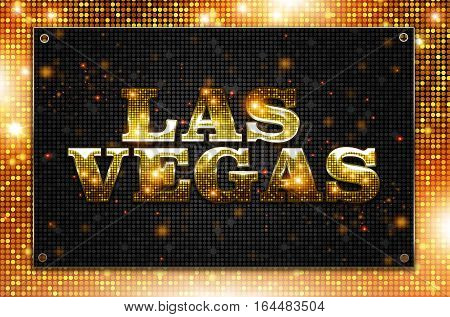 Blinking Las Vegas Sign Conceptual Illustration. Las Vegas Nevada.