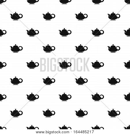 Coffee kettle with big handle pattern. Simple illustration of coffee kettle with big handle vector pattern for web