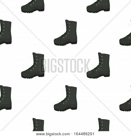 Combat boot icon in cartoon style isolated on white background. Hunting pattern vector illustration.