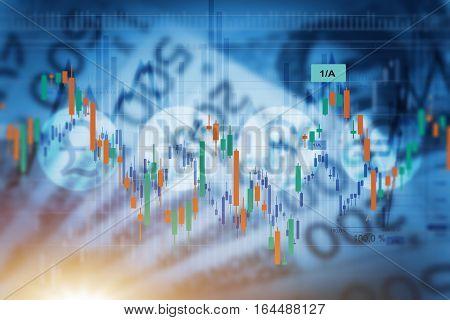Norway Economy Concept. Forex Norwegian Krone Value Conceptual Illustration.