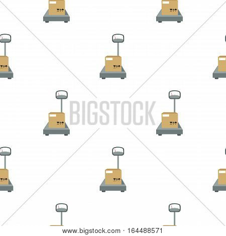 Libra icon in cartoon design isolated on white background. Logistick symbol stock vector illustration.