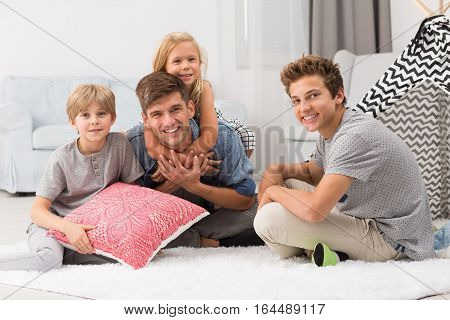 Children Spending Time With Dad