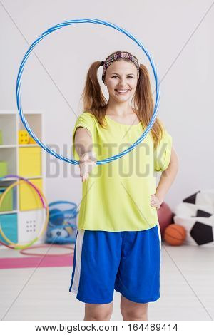 Workout With Hula Hoop