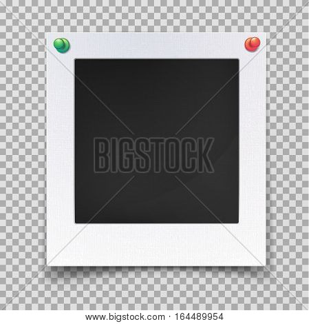 Retro photography empty frame or blank image backdrop. Retro camera picture for wall decoration, old square shape portrait framework. Memory and photo camera, gallery theme