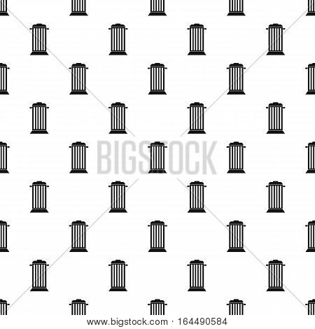 Street trash pattern. Simple illustration of street trash vector pattern for web