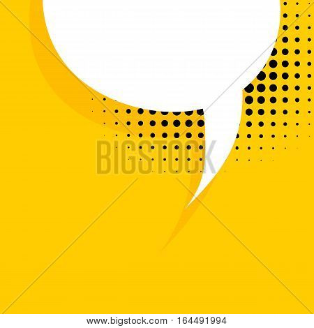 Blank balloon template. Dot background style pop art. Clear speech bubbles halftone. Comic text talk dialog empty cloud. Creative idea conversation sketch drawing box