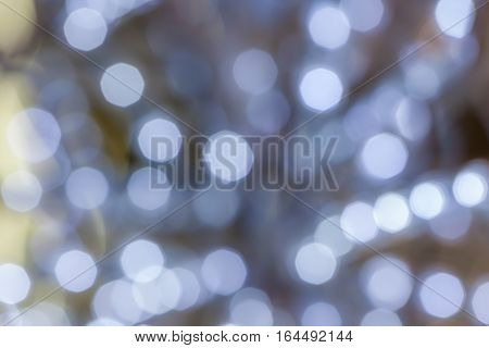 Abstract blurred photo of lights bokeh use for celebrating events background.