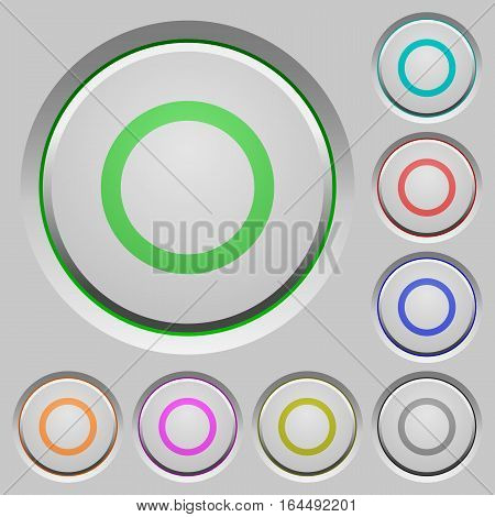 Media record color icons on sunk push buttons