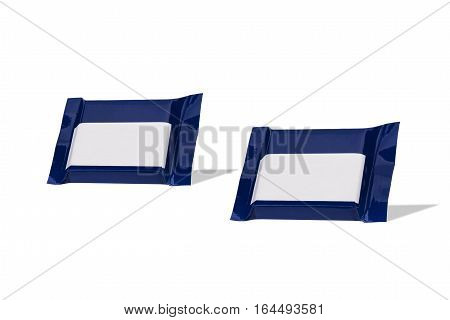 Chocolate wraped in colorful foil isolated at white background
