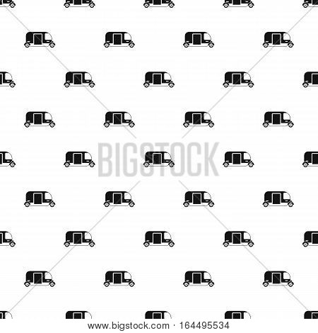 Simple illustration of tuk tuk taxi vector pattern for web