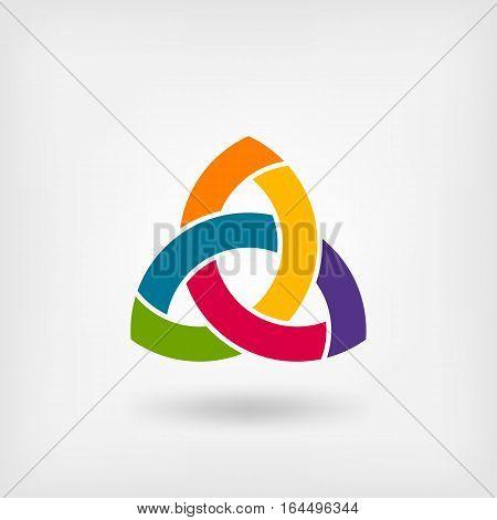 multicolor triquetra symbol. vector illustration - eps 10