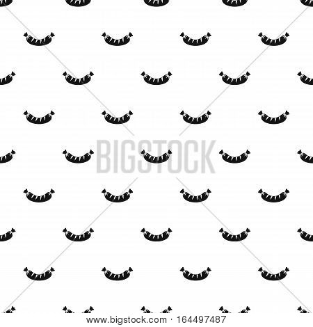 Sausage pattern. Simple illustration of sausage vector pattern for web