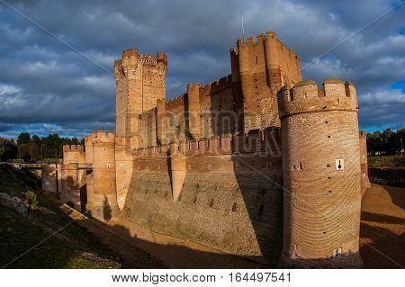 Image of Castle de Mota in Medina del Campo Valladolid Spain poster