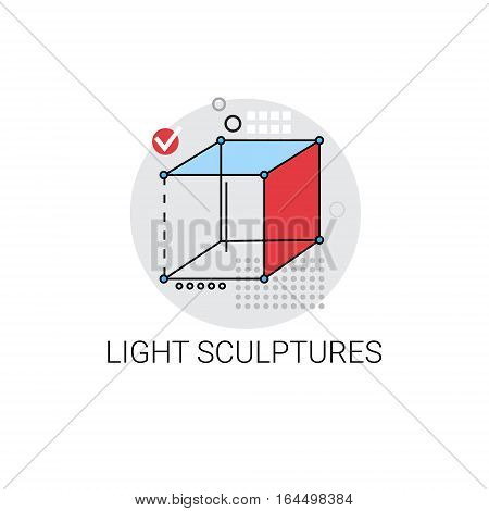 Light Sculpture Modern Art Icon Vector Illustration