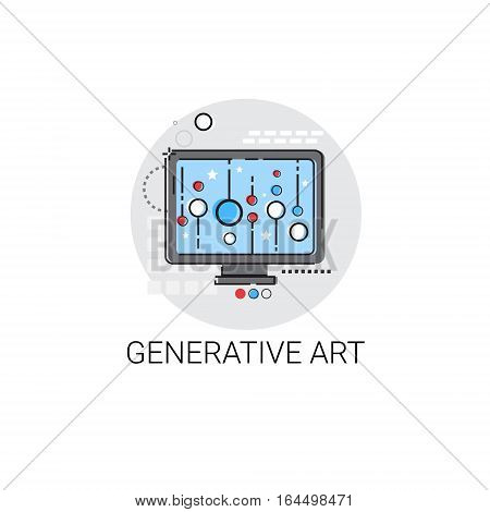 Generative Modern Art Technology Icon Vector Illustration