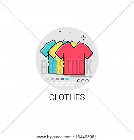 Clothes Fashion Clothing Shop Icon Vector Illustration