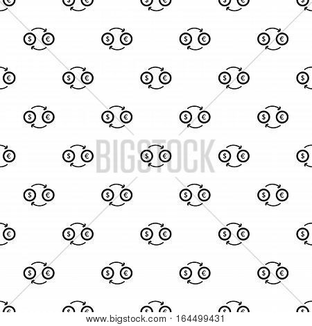Money exchange pattern. Simple illustration of money exchange vector pattern for web