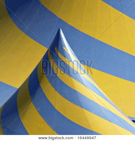 Detail of circus tent