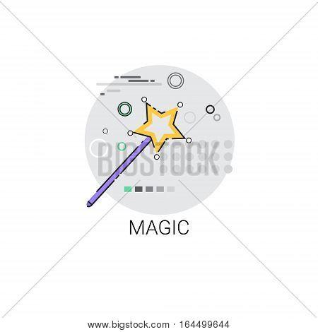 Magic Wand Imagination Miracle Icon Vector Illustration