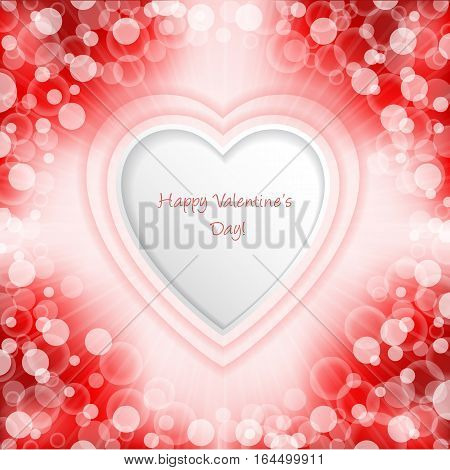 Bursting valentine day greeting card design with bubbles and stripes