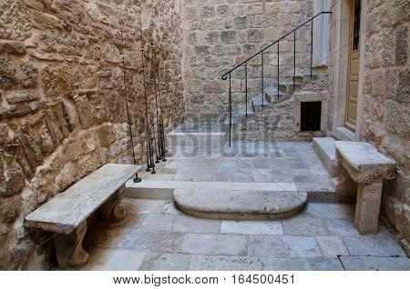 Small Courtyard In Korcula Old Town, Croatia