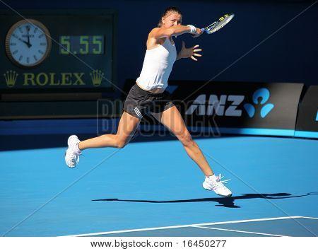 MELBOURNE, AUSTRALIA - JANUARY 16: Dinara Safina of Russia at a practice session ahead of the 2010 Australian Open at Melbourne Park on January 16, 2010 in Melbourne, Australia
