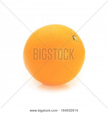 Fresh orange isolated on white background concept