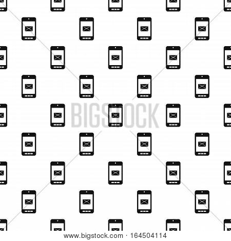 Writing e-mail on phone pattern. Simple illustration of writing e-mail on phone vector pattern for web