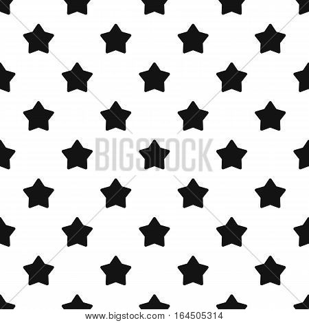 Five pointed big star pattern. Simple illustration of five pointed big star vector pattern for web
