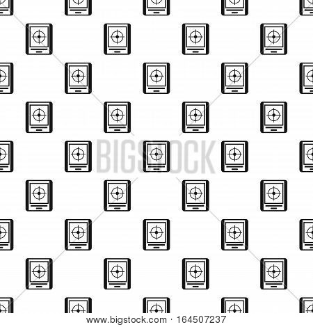 GPS navigator pattern. Simple illustration of GPS navigator vector pattern for web