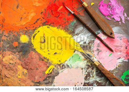 Colorful Palette Of The Artist