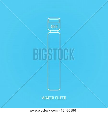 Tap water filter icon. Drink and home water purification filters. Vector water filter icon.   Water softener filter vector icon