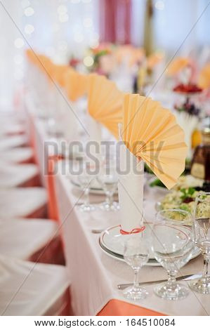 Banquet Wedding Table Setting
