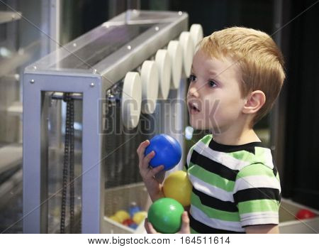 LAS VEGAS, NEVADA, DECEMBER 29. The Discovery Children's Museum on December 29, 2016, in Las Vegas, Nevada. A Boy's Look of Wonder at the Discovery Children's Museum in Las Vegas, Nevada.