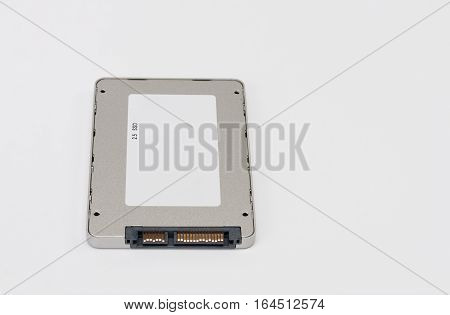 Solid State Drive Disk On White Background