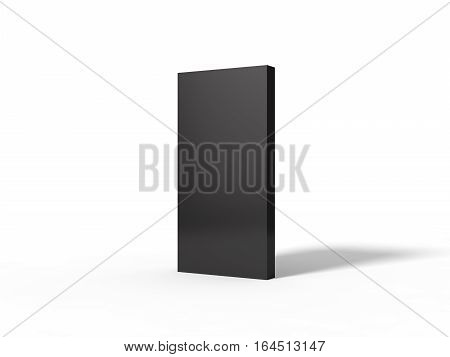 3d illustration of black monolith. isolated on white.