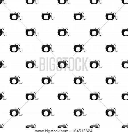 Dental floss pattern. Simple illustration of dental floss vector pattern for web