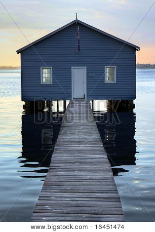 Boatshed on the Swan River - Perth