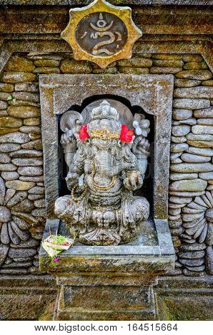 Elephant god statues with for worship at Bali Indonesia