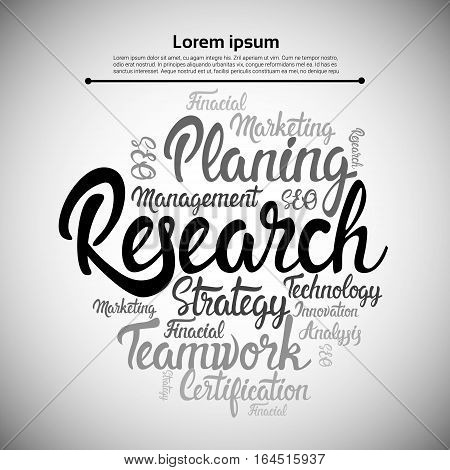 Research Planning Development Business Brainstorming Infographic Vector Illustration