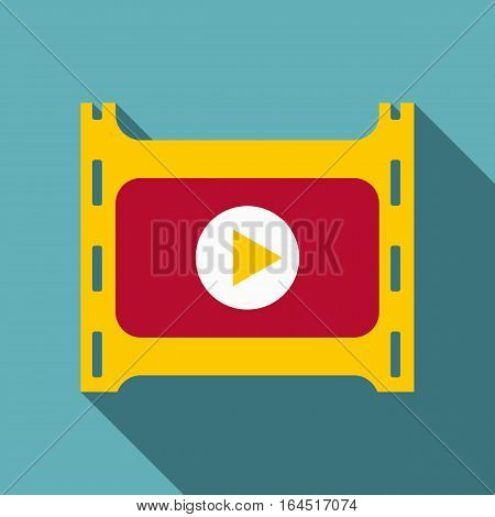 Play film icon. Flat illustration of play film vector icon for web