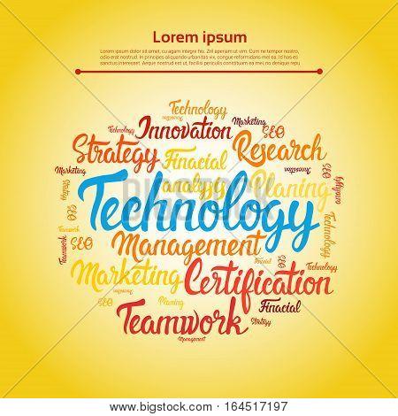 Management Technology Development Business Brainstorming Infographic Vector Illustration