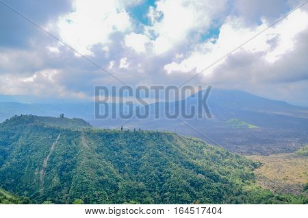 Kintamani Batur Volcano the mountain and vocalno in Bali Indonesia